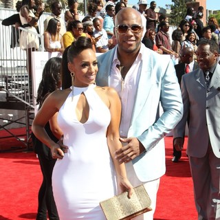 Melyssa Ford, Flo Rida in The BET Awards 2012 - Arrivals
