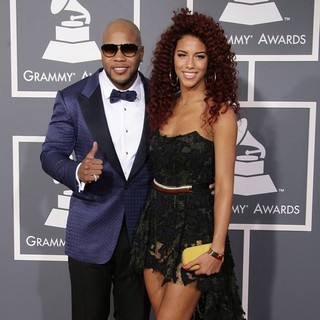 Flo Rida, Natalie La Rose in 55th Annual GRAMMY Awards - Arrivals