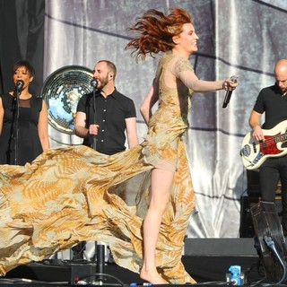 Florence Welch, Mark Saunders, Florence and the Machine in BBC Radio 1's Hackney Weekend - Day 2