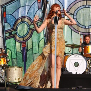 Mark Saunders, Florence Welch, Christopher Lloyd Hayden, Florence and the Machine in BBC Radio 1's Hackney Weekend - Day 2
