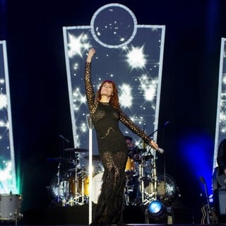 Florence Welch, Robert Ackroyd, Florence and the Machine in Leeds Festival 2012 - Day Three