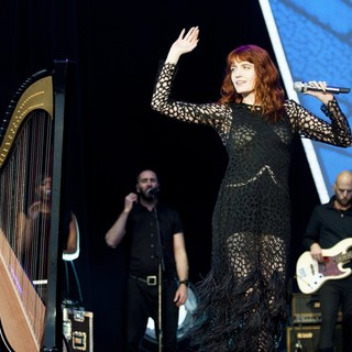 Tom Monger, Florence Welch, Florence and the Machine in Leeds Festival 2012 - Day Three
