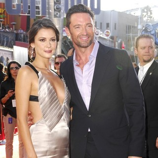 Olga Fonda, Hugh Jackman in Los Angeles Premiere of Real Steel