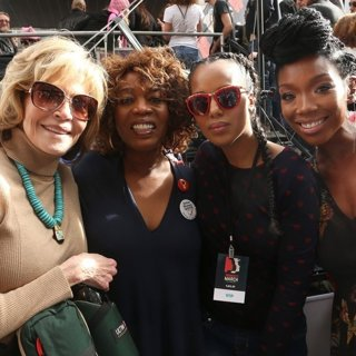 Jane Fonda, Alfre Woodard, Kerry Washington, Brandy-Women's March