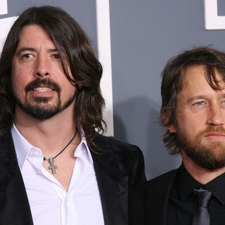 Dave Grohl, Nate Mendel, Foo Fighters in 54th Annual GRAMMY Awards - Arrivals
