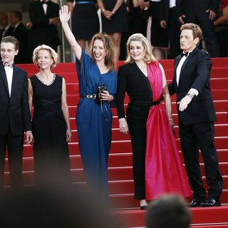 Sara Forestier, Rod Paradot, Frederique Bredin, Emmanuelle Bercot, Catherine Deneuve, Benoit Magimel in 68th Annual Cannes Film Festival - Opening Ceremony - Arrivals