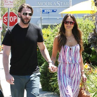 Andrew Form, Jordana Brewster in Jordana Brewster and Andrew Form Leaving A Restaurant