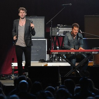 Mark Foster, Cubbie Fink, Foster the People in The Y100 Jingle Ball 2011
