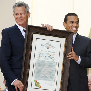 David Foster, Antonio Villaraigosa in David Foster Honored with Star on The Hollywood Walk of Fame