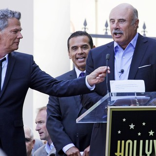 David Foster, Antonio Villaraigosa, Phil McGraw in David Foster Honored with Star on The Hollywood Walk of Fame