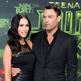 Megan Fox, Brian Austin Green in German Premiere of Teenage Mutant Ninja Turtles