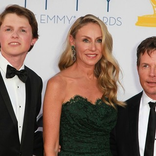 Sam Fox, Tracy Pollan, Michael J. Fox in 64th Annual Primetime Emmy Awards - Arrivals