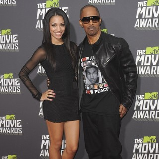 Corinne Foxx, Jamie Foxx in 2013 MTV Movie Awards - Arrivals