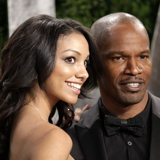 Corrine Foxx, Jamie Foxx in 2013 Vanity Fair Oscar Party - Arrivals