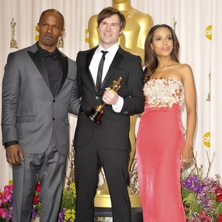 Jamie Foxx, Shawn Christensen, Kerry Washington in The 85th Annual Oscars - Press Room