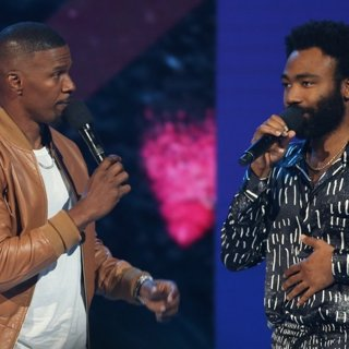 Jamie Foxx, Donald Glover in 2018 BET Awards - Show