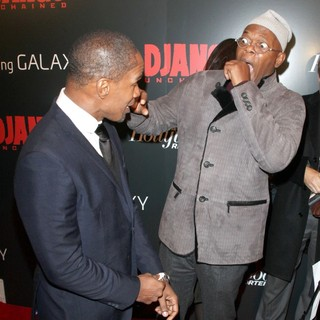 Jamie Foxx, Samuel L. Jackson in The Premiere of Django Unchained