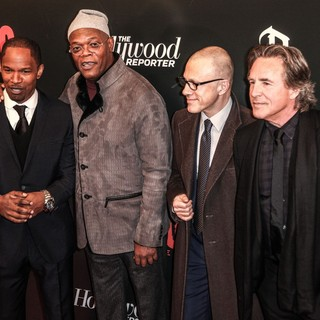 Jamie Foxx, Samuel L. Jackson, Christoph Waltz, Don Johnson in The Premiere of Django Unchained