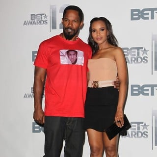 Jamie Foxx, Kerry Washington in The BET Awards 2012 - Press Room