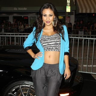 Francia Raisa in Getaway Los Angeles Premiere