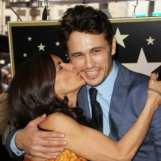 Betsy Franco, James Franco in James Franco Is Honoured with A Hollywood Star on The Hollywood Walk of Fame