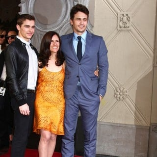 Dave Franco, Betsy Franco, James Franco in James Franco Is Honoured with A Hollywood Star on The Hollywood Walk of Fame