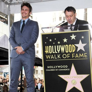 James Franco, Sam Raimi in James Franco Is Honoured with A Hollywood Star on The Hollywood Walk of Fame