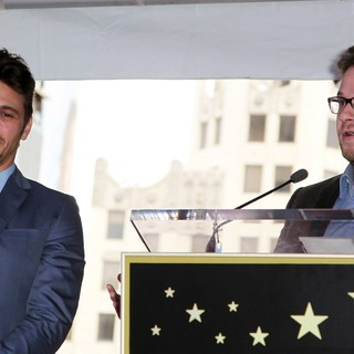 James Franco, Seth Rogen in James Franco Is Honoured with A Hollywood Star on The Hollywood Walk of Fame