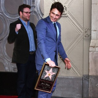 Seth Rogen, James Franco in James Franco Is Honoured with A Hollywood Star on The Hollywood Walk of Fame
