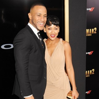 DeVon Franklin, Meagan Good in Anchorman: The Legend Continues Premiere Sponsored by Buffalo David Bitton