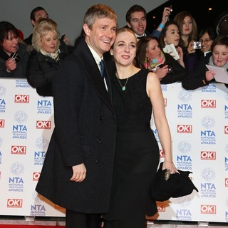 Martin Freeman, Amanda Abbington in National Television Awards 2013 - Arrivals