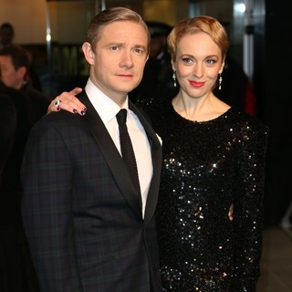 Martin Freeman, Amanda Abbington in The Hobbit: An Unexpected Journey - UK Premiere - Arrivals