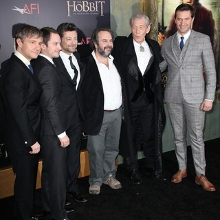 Martin Freeman, Elijah Wood, Andy Serkis, Peter Jackson, Ian McKellen, Richard Armitage in Premiere of The Hobbit: An Unexpected Journey