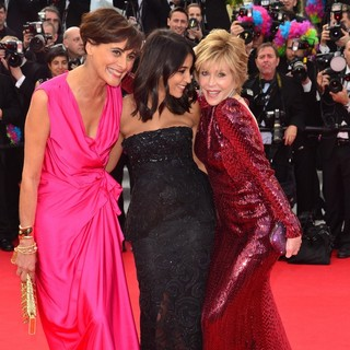 Ines de la Fressange, Leila Bekhti, Jane Fonda in Madagascar 3: Europe's Most Wanted Premiere- During The 65th Cannes Film Festival