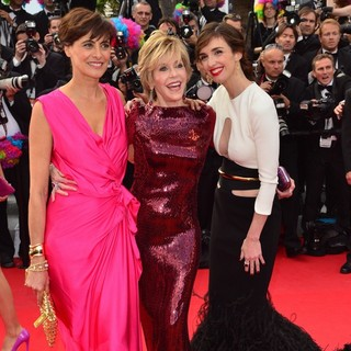 Ines de la Fressange, Jane Fonda, Paz Vega in Madagascar 3: Europe's Most Wanted Premiere- During The 65th Cannes Film Festival