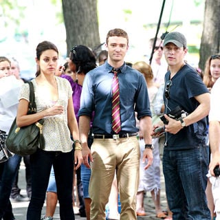 Mila Kunis, Justin Timberlake in Filming on The Set of New Film 'Friends with Benefits'