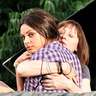 Mila Kunis, Patricia Clarkson in Filming on The Set of New Film 'Friends with Benefits'