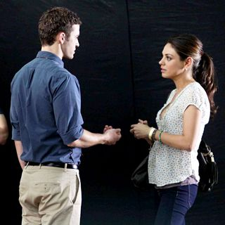 Justin Timberlake, Mila Kunis in Filming on The Set of New Film 'Friends with Benefits'