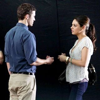 Mila Kunis - Filming on The Set of New Film 'Friends with Benefits'