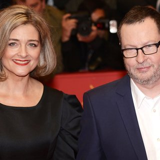 Bente Froge, Lars von Trier in 64th Berlin International Film Festival - Nymphomaniac - Premiere