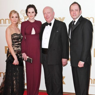 Joanne Froggatt, Michelle Dockery, Julian Fellowes in The 63rd Primetime Emmy Awards - Arrivals