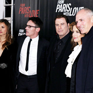 Kasia Smutniak, Jonathan Rhys-Meyers, John Travolta, Kelly Preston in 'From Paris with Love' premiere - Arrivals