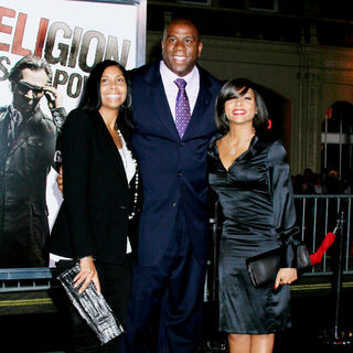 Magic Johnson, Cookie Johnson, Taraji P. Henson in Los Angeles Premiere of 'The Book Of Eli' - Arrivals