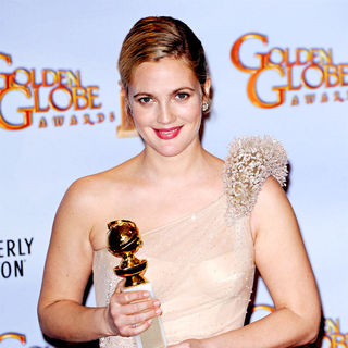 Drew Barrymore in 67th Annual Golden Globe awards - Press Room