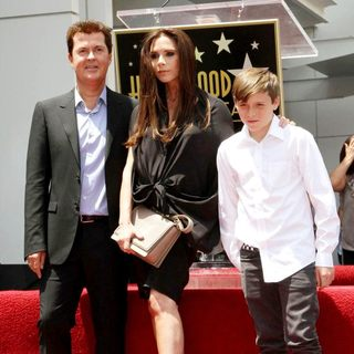 Simon Fuller, Victoria Adams, Brooklyn Beckham in Simon Fuller Receives A Star on The Hollywood Walk of Fame