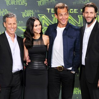 Bradley Fuller, Megan Fox, Will Arnett, Andrew Form in German Premiere of Teenage Mutant Ninja Turtles