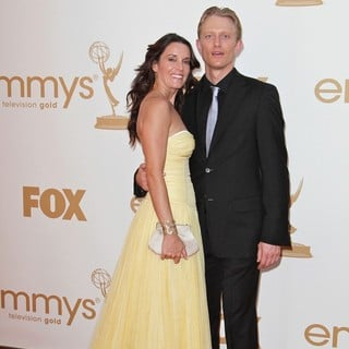 Kylie Furneaux, Neil Jackson in The 63rd Primetime Emmy Awards - Arrivals