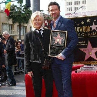Deborra-Lee Furness, Hugh Jackman in Hugh Jackman Is Honoured with A Hollywood Star on The Hollywood Walk of Fame