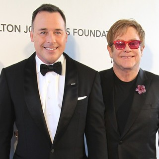 David Furnish, Elton John in 21st Annual Elton John AIDS Foundation's Oscar Viewing Party