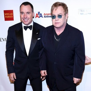 David Furnish, Elton John in The Elton John AIDS Foundation's 11th Annual An Enduring Vision Benefit - Arrivals